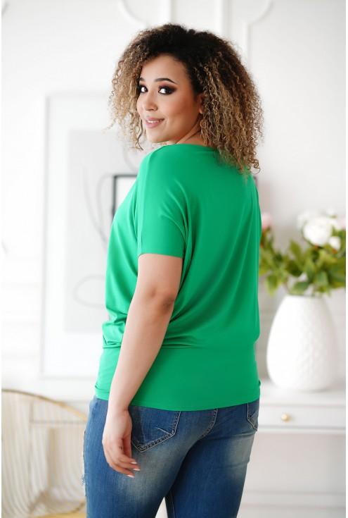 zielona tunika w dużym rozmiarze