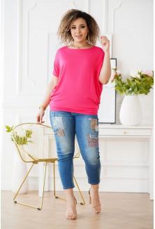 różowa tunika plus size
