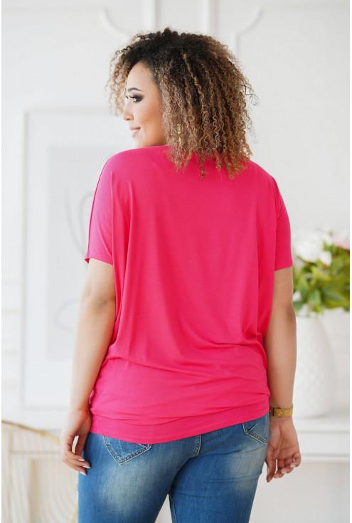 różowa bluzka w dużych rozmiarach