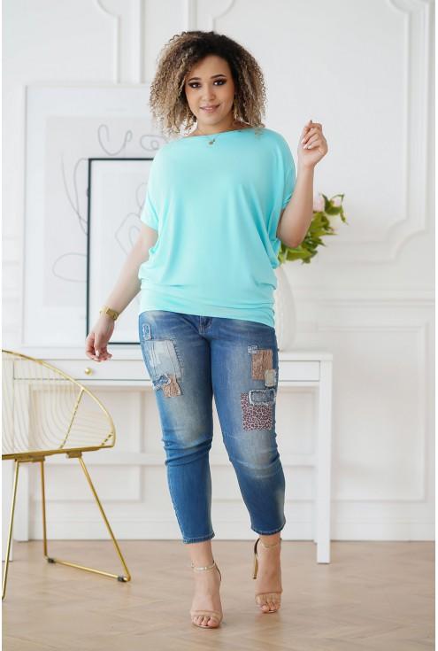 jednokolorowa bluzka plus size