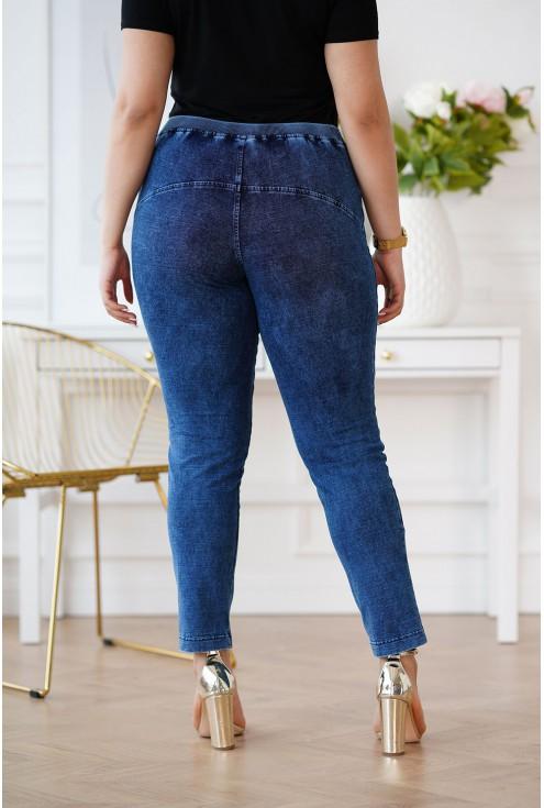 elastyczne spodnie jeansowe xxl