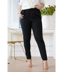 Czarne eleganckie spodnie z prostą nogawką - RICKI