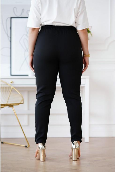 Czarne spodnie z prostą nogawką