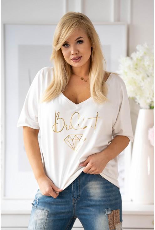 bluzka ze złotym napisem xxl