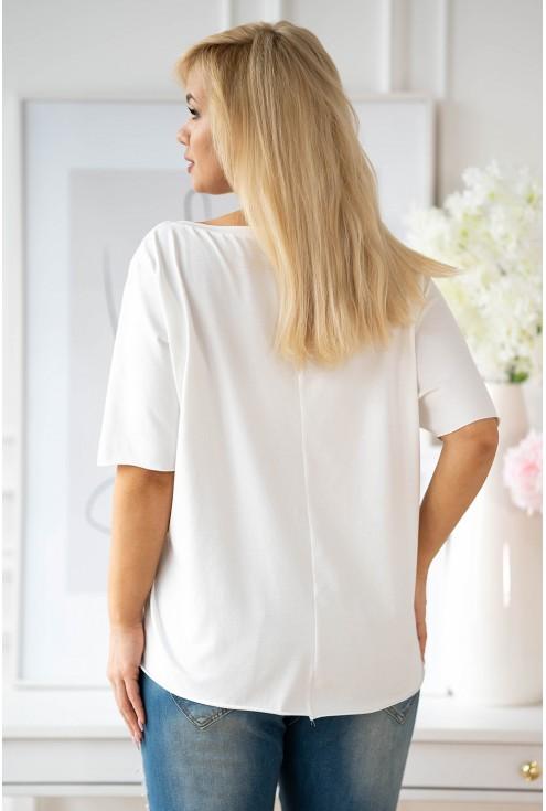 bluzka z dekoltem v sklep xlka z modą plus size