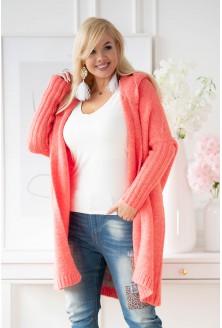 koralowy sweter xxl