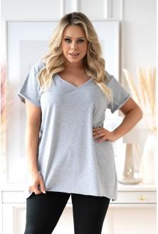 klasyczna bluzka tunika melanżowa plus size