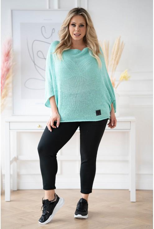 turkusowy sweter xxl