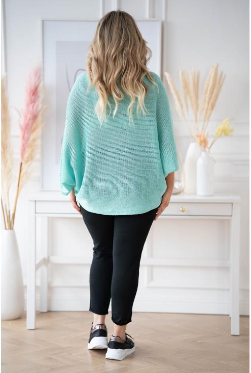 kimonowy turkusowy sweter xxl