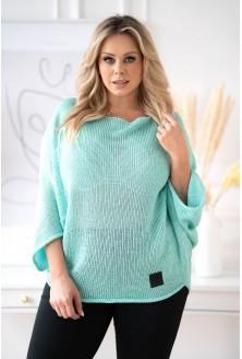turkusowy sweter plus size xxl