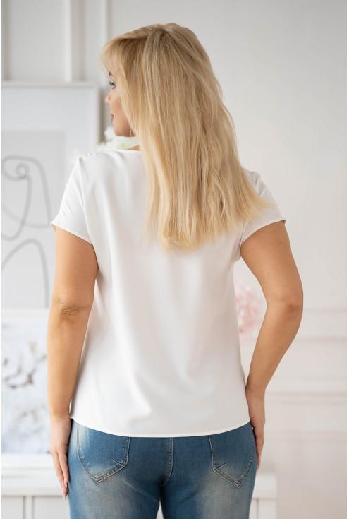tył kremowej bluzki XXL Felipa