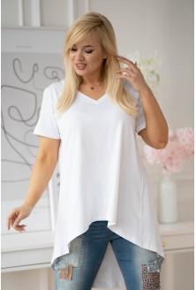 biała tunika plus size