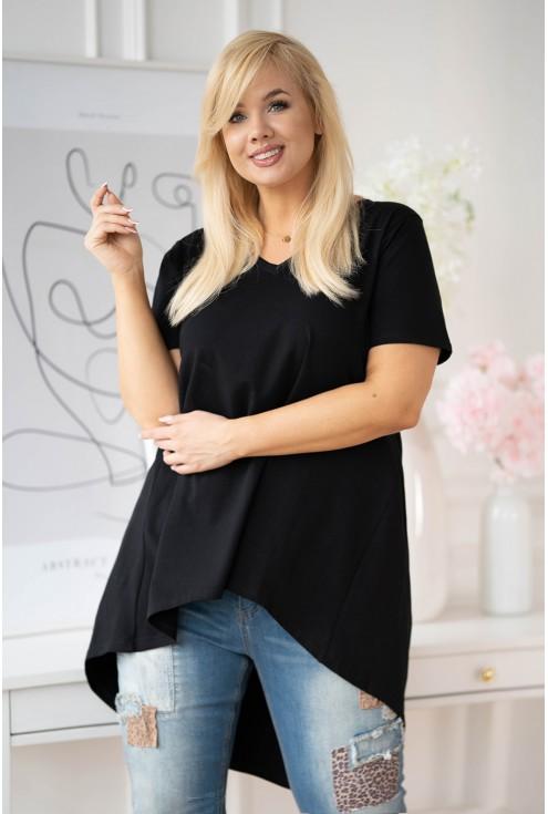 czarna tunika plus size