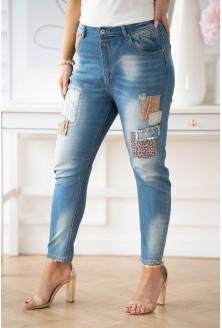 ciemne jeansy plus size Brisa