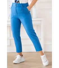 Chabrowe eleganckie spodnie z wyższym stanem - Gianna