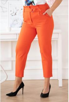 Pomarańczowe eleganckie spodnie