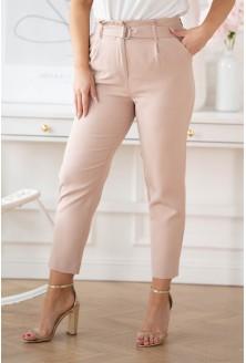 Pudrowe eleganckie spodnie