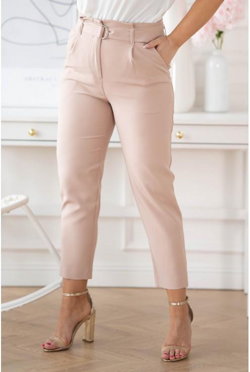 eleganckie spodnie z wyższym stanem