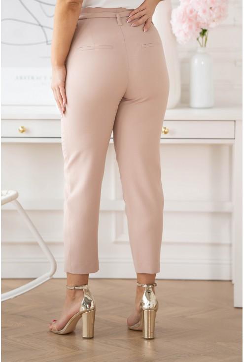 pudrowe spodnie plus size