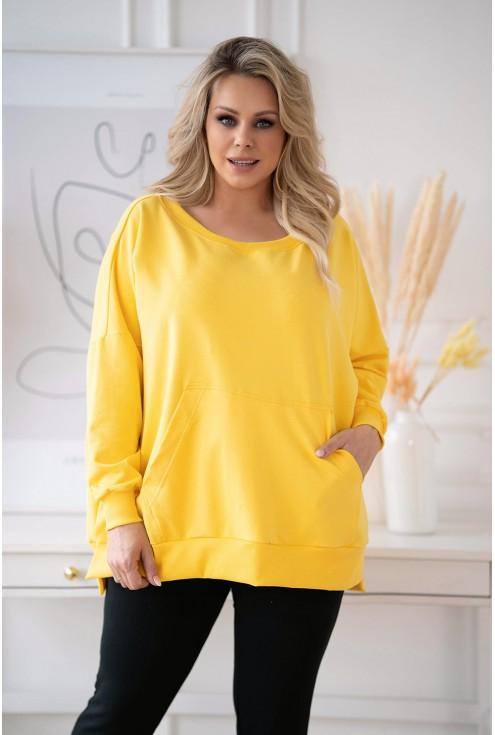 Miodowa bluza oversize Camisa