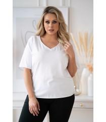 Biała bluzka z dekoltem V - ERISA