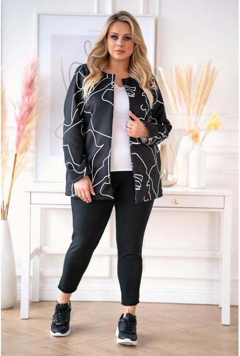 czarny płaszcz plus size
