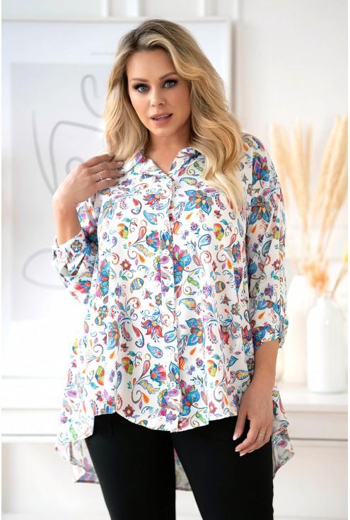 koszula w kwiaty xxl