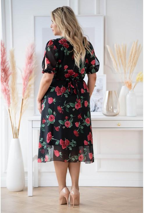 Czarna sukienka plus size Verita