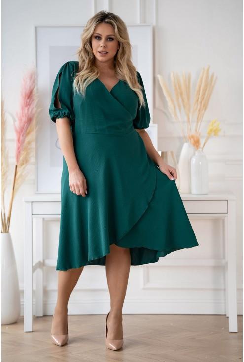 sukienka z dekoltem w literę V