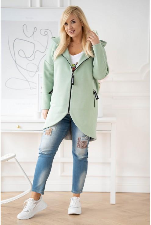 płaszcz zielony z kapturem