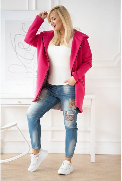 różowy płaszczyk XXL