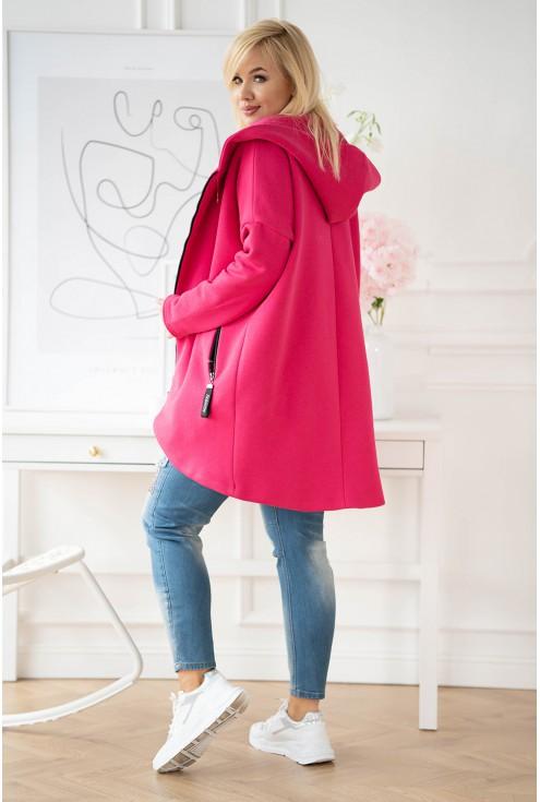 płaszcz z kapturem róż