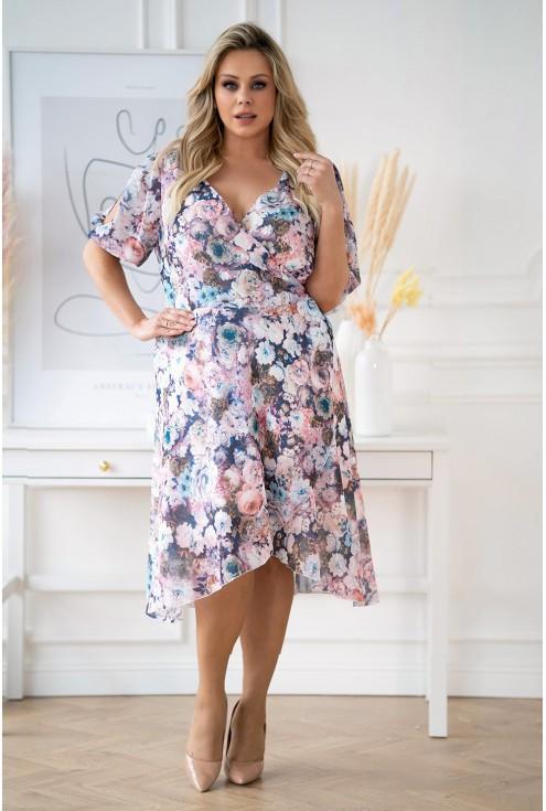sukienka plus size w kwiaty