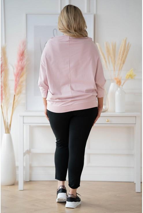 tył różowej bluzki