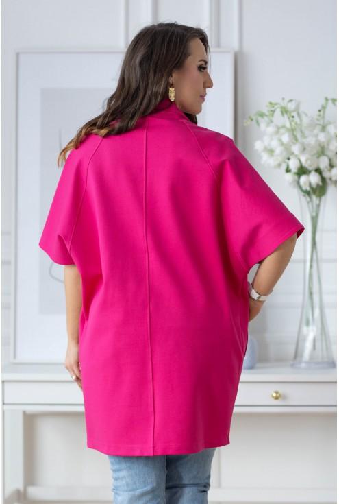 Della różowy płaszcz plus size