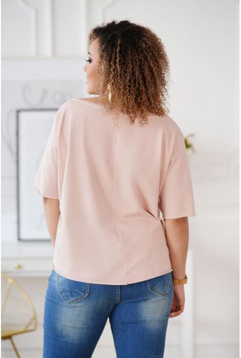 tył bluzki XXL kolor pudrowy