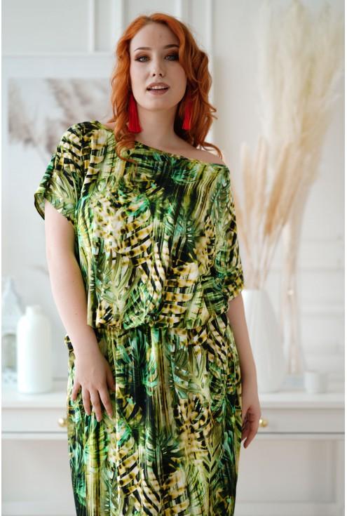 sukienka plus size Grand print