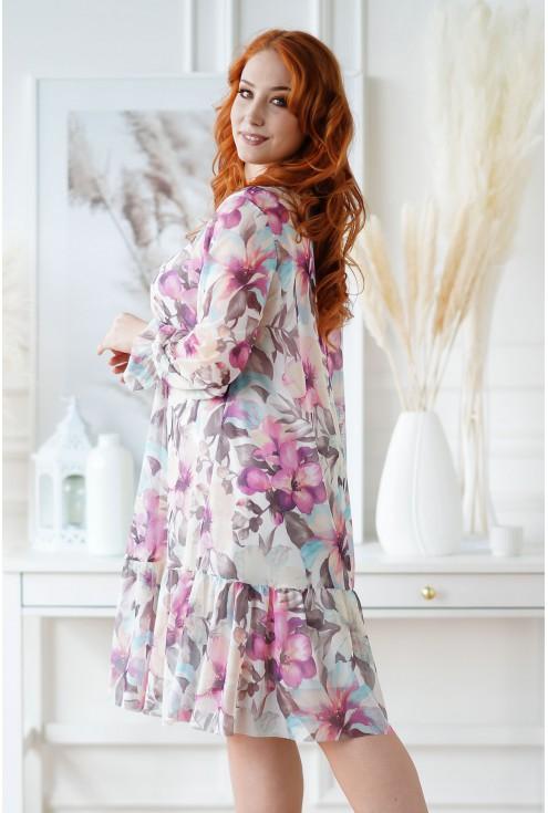 Kremowa sukienka plus size