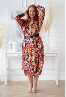 Sukienka JAJKO - mix egzotycznych kwiatów