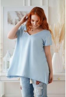 Klasyczna jasnoniebieska bluzka tunika