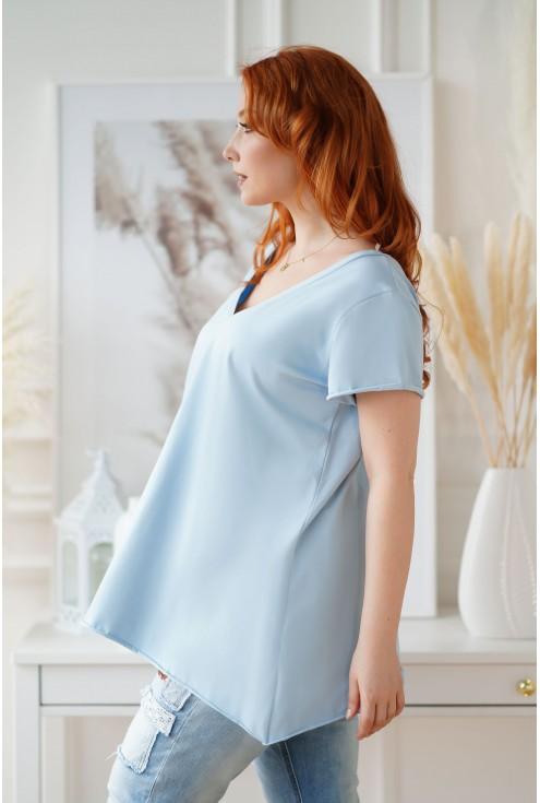 Klasyczna jasnoniebieska bluzka XXL