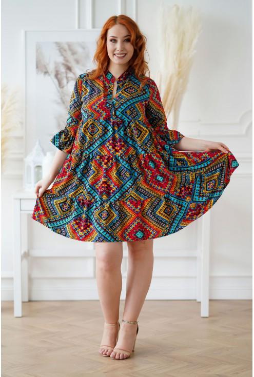 Sukienka plus size Sabine