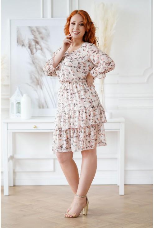 Beżowa sukienka Coralie