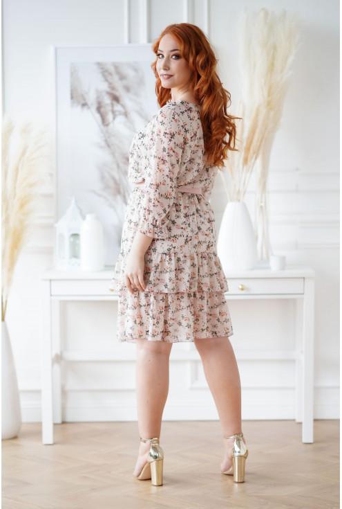 sukienka w drobne kwiaty