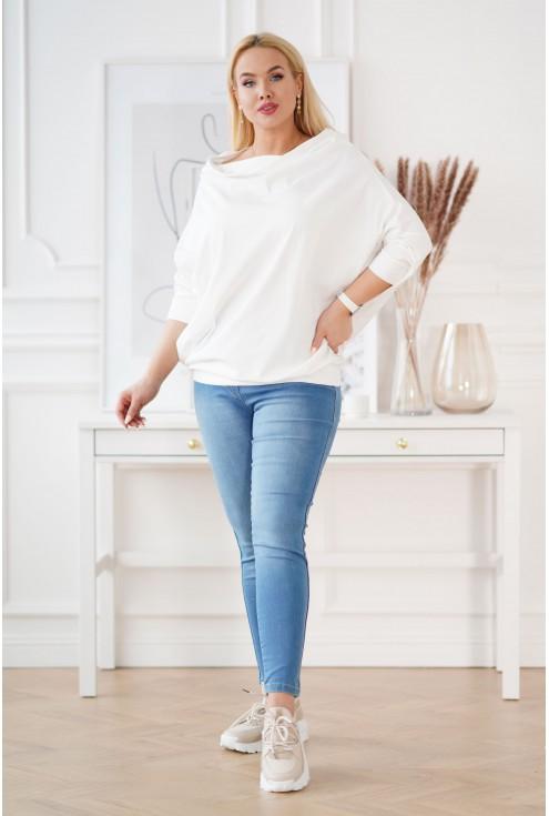 Kremowa bluzka plus size