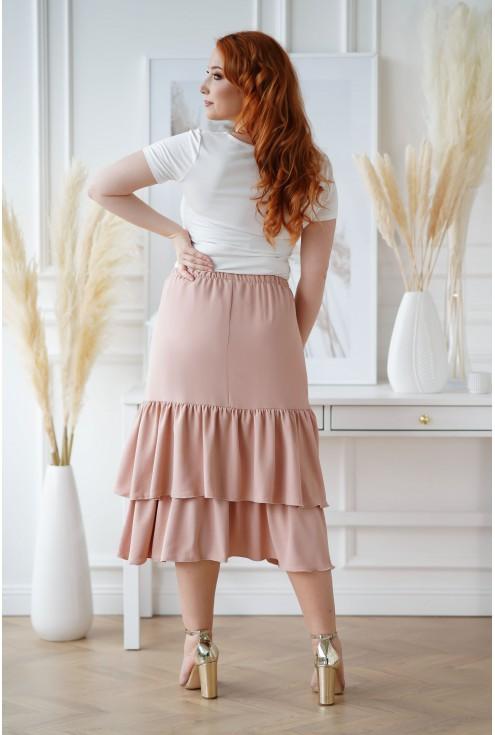 brzoskwiniowa spódnica plus size
