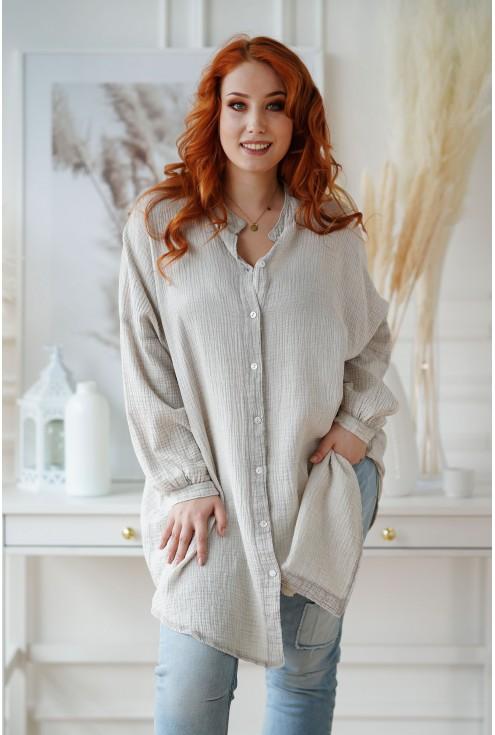 bawełniana koszula plus size