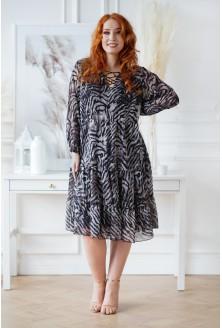 Czarno-beżowa sukienka  XXL