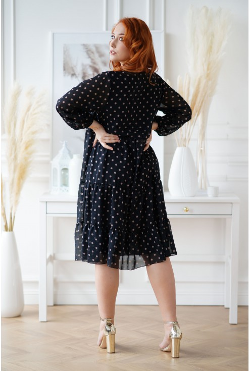 Sukienka plus size z falbanami