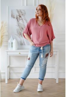 Brzoskwiniowo-różowa bluzka XXL